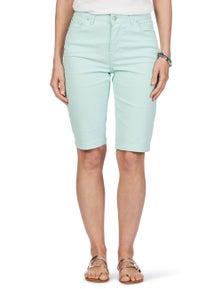 Rockmans Knee Length Solid Colour Short