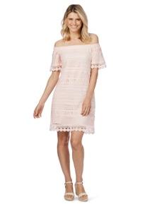 Rockmans Elbow Sleeve Lace Dress