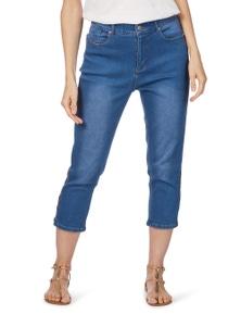 Rockmans Crop Slim Leg Cutout Detail Jean