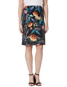 Rockmans Colour Floral Print Pencil Skirt