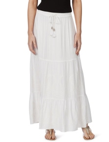 Rockmans Embroidered Maxi Skirt