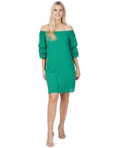 Rockmans 3/4 Sleeve Off Shoulder Dress