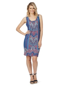 Rockmans Sleeveless Ring Detail Lace Up Dress