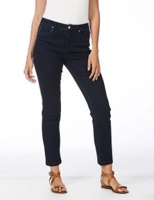 Rockmans Full Length C/W Short Straight Leg Jean