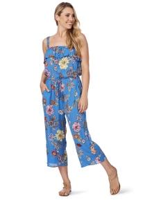 Rockmans Sleeveleess Floral Print Jumpsuit