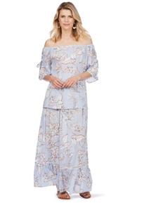 Rockmans Floral Lurex Maxi Skirt