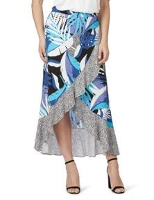 Rockmans Spot palm maxi Skirt