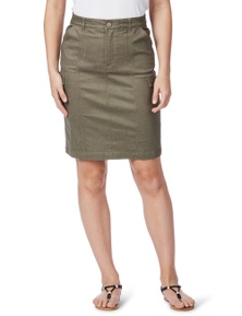 Rockmans Cargo Denim Skirt