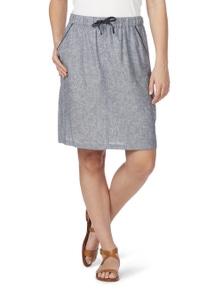 Rockmans Cross Dye Linen Skirt
