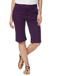Rockmans Knee Length Studded Pocket Denim Short