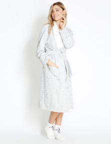 Rockmans Longsleeve Foil Spot Bathrobe