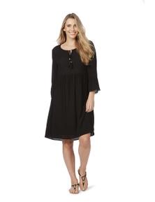 Rockmans 3/4 Sleeve Peasant Dress