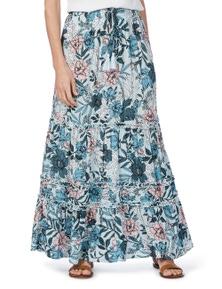 Rockmans Ruffle Maxi Skirt