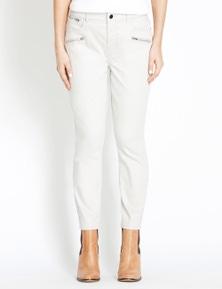 Rockmans 7/8 Length Zip and Stud Detail Jean