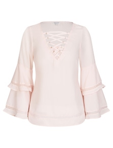 Table Eight Longsleeve Paisely Printed Blouse