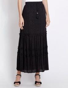Rockmans Lurex Stripe Skirt