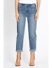 Rockmans Full Length Side Seam Stud Jean