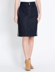 Rockmans Stripe Pencil Skirt