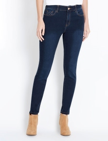 Rockmans Full Length Mid Rise Slim Leg Jean