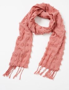 Amber Rose Textured Fluff Scarf