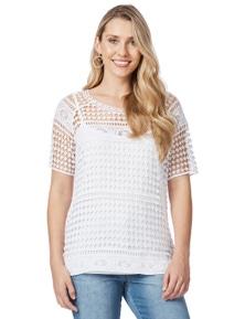 Rockmans Crochet Lace Top