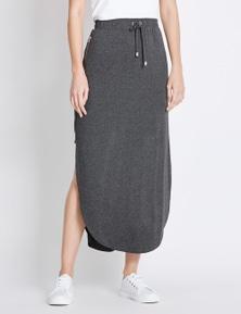 Rockmans Side Panel Curved Hem Skirt