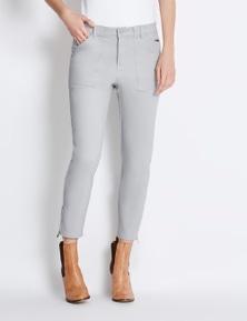 Rockmans 7/8 Length Zip Slim Leg Soft Touch Pant