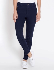 Rockmans Full length Soft Touch Panel Detail Pant