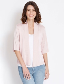 Rockmans Elbow Sleeve Crop Cardi