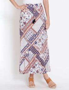 Rockmans Tile Print Maxi Skirt