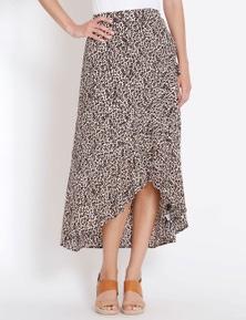 Rockmans Asymmetric Ruffle Maxi Skirt