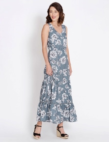 Table Eight Off Shoulder Floral Maxi Dress