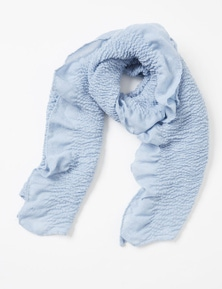 Amber Rose Textured Ruffle Trim Scarf