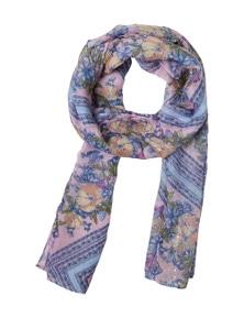 Amber Rose Floral Tile Print Scarf