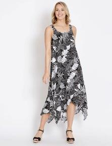 Rockmans Sleeveless Mono Print Dress