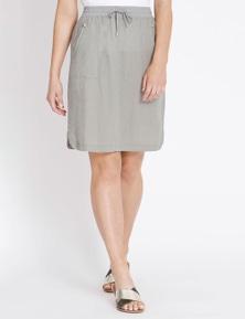 Rockmans Linen Zip Skirt