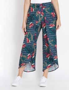 Rockmans Crop Length Crossover Printed Pant
