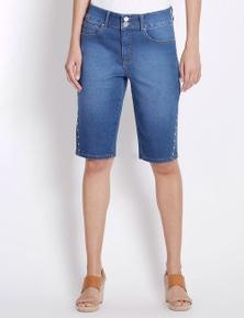 Rockmans Knee Length Bright Wash Short