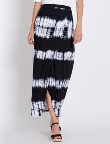 Rockmans Tie Dye Wrap Maxi Skirt