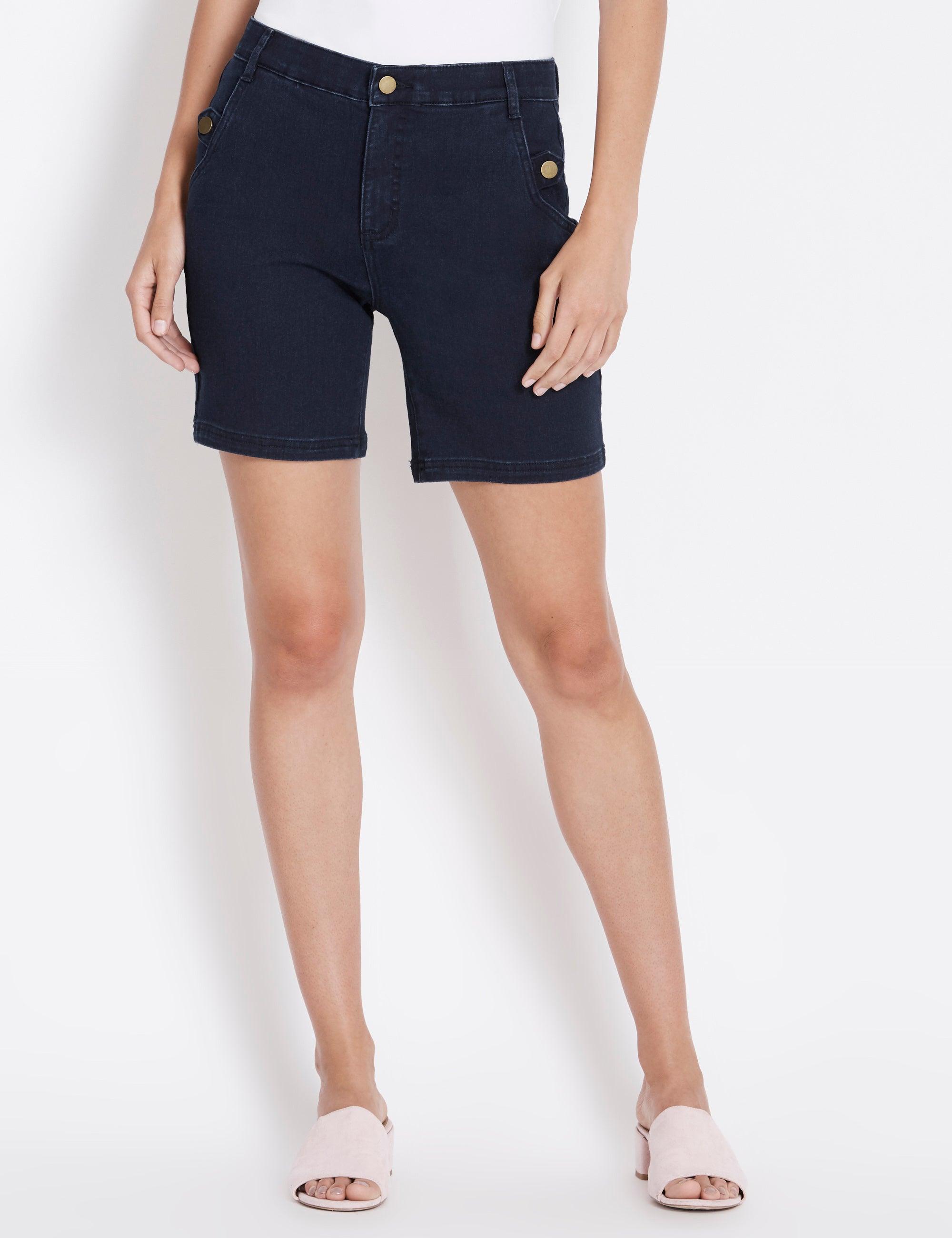 womens knee length shorts australia