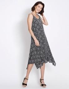 Rockmans Sleeveless Aztec Print Maxi Dress