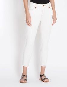 Rockmans 7/8 Length Contrast Stitch Jean