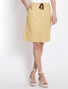 Rockmans Pocket Detail Linen Skirt
