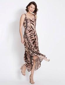 Table Eight Snake Print Midi Dress