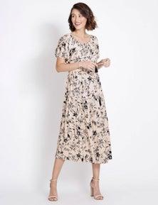Table Eight Short Sleeve Floral Maxi Dress