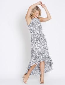 Table Eight Sleeveless Tiered Midi Dress