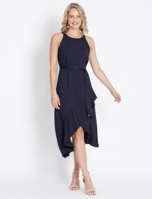 Table Eight Sleeveless Satin Spot Back  Dress