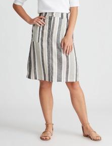 Rockmans Knee Length Multi Stripe Skirt