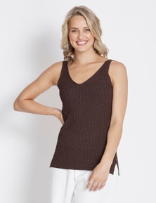 Table Eight Ribbed Lurex Knit