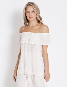 Table Eight Tribal Off Shoulder Top
